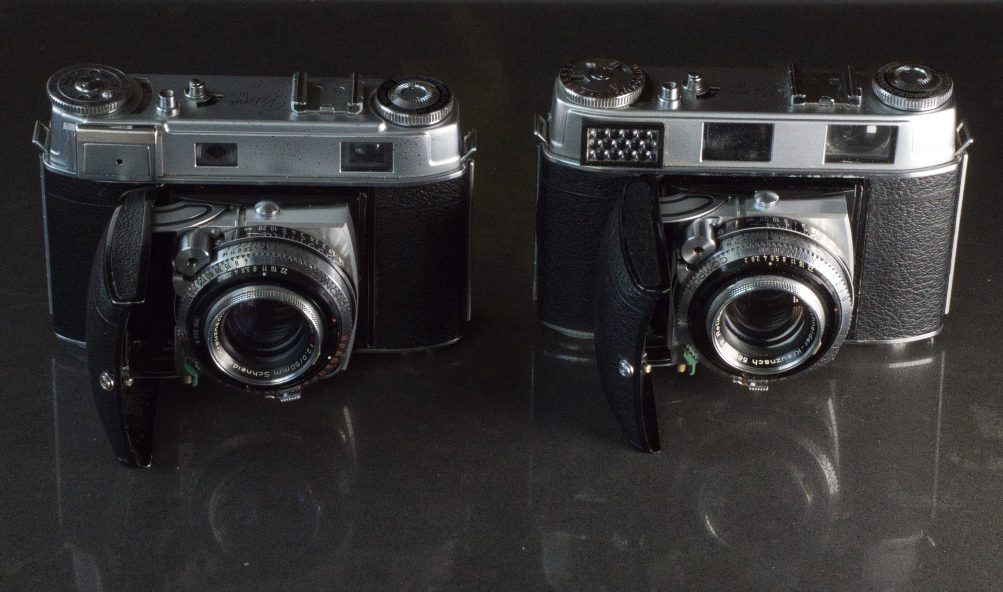 Zweieiige Zwillinge: Retina IIIc und IIIC mit Normalobjektiv Schneider Retina-Xenon 2/50mm