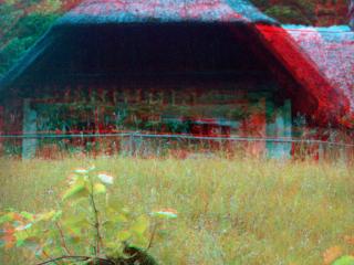 Österreichisches Freilichtmuseum in Stübing fotografiert mit Kodak Retina Stereovorsatz