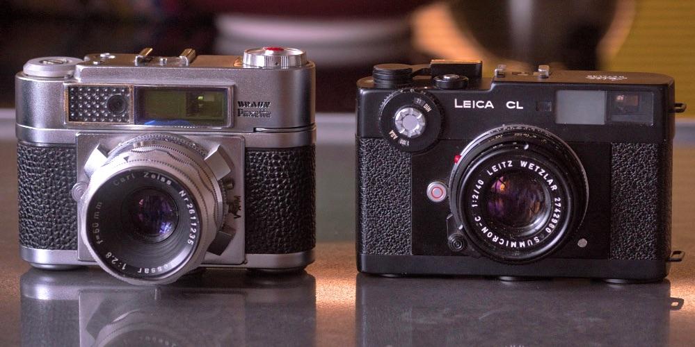 Sie könnten Schwestern sein: Super Paxette BL (1958, links) und Leica CL (1973)
